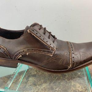 T2 Custom Made Lace Up Cap Toe Dress Shoes EU 44